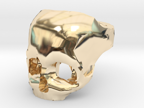 Skull Ring US 9 in 14K Yellow Gold