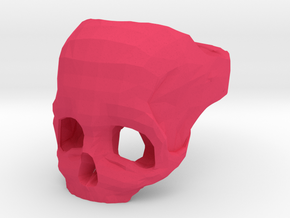 Skull Ring US 8 in Pink Processed Versatile Plastic