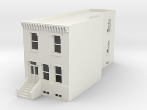 HO scale Row Home  in White Natural Versatile Plastic