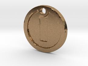 Super Mario Gold Coin Replica Necklace in Natural Brass