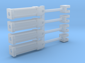 Four 1:64 HYDRAULIC CYLINDERS  in Smooth Fine Detail Plastic