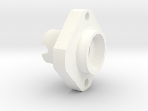 Yokomo Wheel Adapter RC10 (1pcs) in White Processed Versatile Plastic
