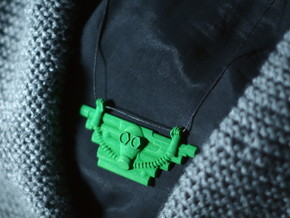 Gas Mask Pectoral Necklace in Green Processed Versatile Plastic