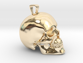 Skull Pendant in 14K Yellow Gold