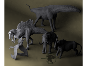 Mini Prehistoric Collection 1 in Smooth Fine Detail Plastic