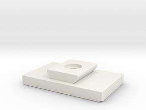 Tripod Shoe Generic Replacement for SLIK U6000 in White Natural Versatile Plastic