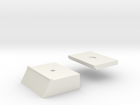 Base Carriage #6 (n-scale) in White Natural Versatile Plastic