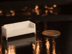 1:48 Knoll Sofa in White Natural Versatile Plastic