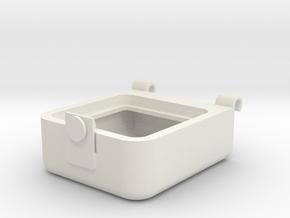 Transport Box Top 25mm in White Natural Versatile Plastic
