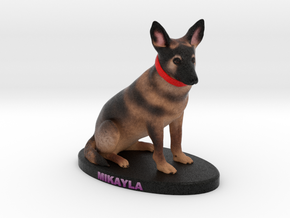 Custom Dog Figurine - Mikayla in Full Color Sandstone
