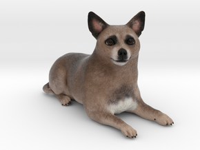 Custom Dog Figurine - Milo in Full Color Sandstone