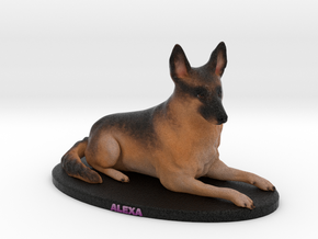 Custom Dog Figurine - Alexa in Full Color Sandstone
