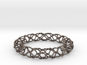 ChainLink bangle in Polished Bronzed Silver Steel