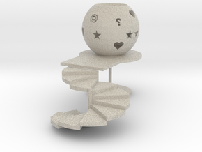 Stairway to heaven/Tealight candle holder/Lichtbol in Sandstone