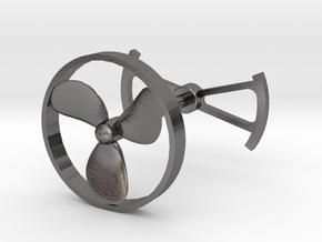 OpenROV Cufflinks in Polished Nickel Steel