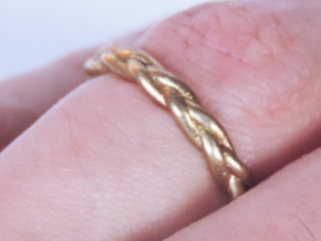 Braid Ring in Raw Brass