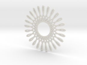 Spirograph03 in White Natural Versatile Plastic