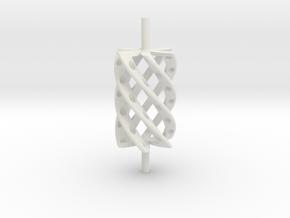 Twist Roller4hollo in White Natural Versatile Plastic