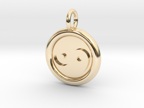 Tau and Tao Unit(cm) Pendant in 14K Yellow Gold