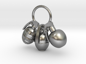 Hand grenade in Natural Silver