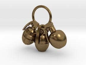 Hand grenade in Natural Bronze