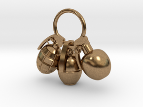 Hand grenade in Natural Brass