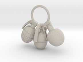 Hand grenade in Natural Sandstone
