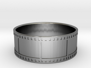 35mm Film Strip Ring - Size US 11 in Polished Silver