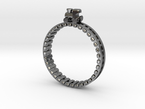 Train Nr1 Ring in Polished Silver: 7 / 54