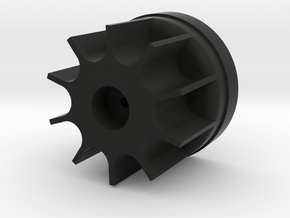 Bruder Delta Loader: Wheel hub in Black Natural Versatile Plastic