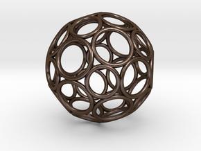 Alternative Buckyball Pendant in Polished Bronze Steel