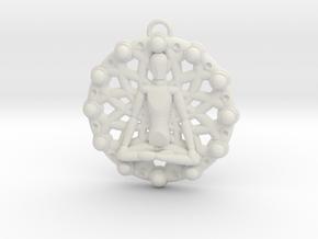 Meditation Chakra Pendant in White Natural Versatile Plastic