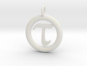 Tau Open Unit(cm) Pendant in White Natural Versatile Plastic