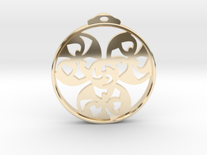 Triskele Pendant / Earring in 14K Yellow Gold