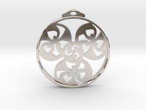 Triskele Pendant / Earring in Platinum