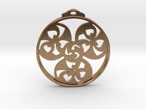 Triskele Pendant / Earring in Natural Brass