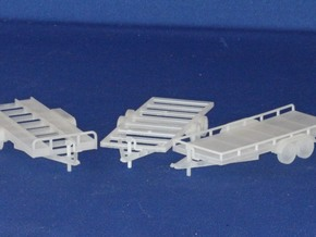 Trailer Assortment HO Scale 1/87 FUD material in Smooth Fine Detail Plastic