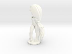 Luna Pose 02 - 90mm in White Processed Versatile Plastic