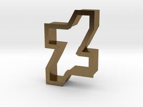 new dA logo cookie cutter in Natural Bronze