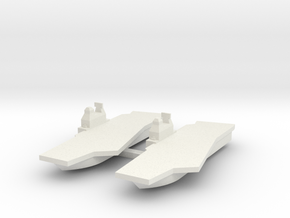 Generic Angled Deck Aircraft Carrier X 2 in White Strong & Flexible