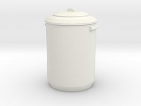 1:24 Garbage Can - Dustbin in White Natural Versatile Plastic