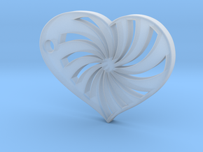 Spiral Heart in Smooth Fine Detail Plastic