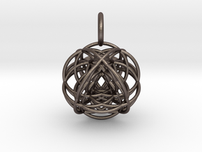 VESICA VECTOR in Polished Bronzed Silver Steel