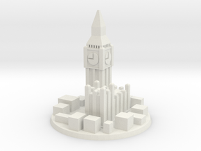 London City Marker in White Natural Versatile Plastic