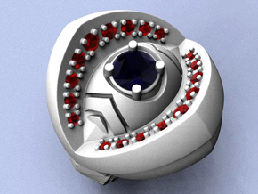 Ring of India - Gems - Size 12 (21.49 mm)  in Raw Silver
