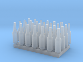1:35 Beer/Soda Bottle - 28ea in Smooth Fine Detail Plastic