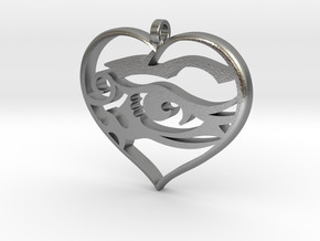Heart and Soul in Natural Silver