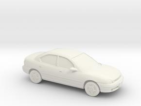 1/87 Dodge Neon 4 Door in White Natural Versatile Plastic