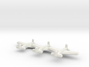 P-51A/Mustang II (Triplet) 1/900 in White Natural Versatile Plastic