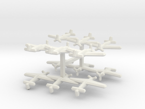 P-51A/Mustang II (Triplet) 1/900 x4 in White Natural Versatile Plastic